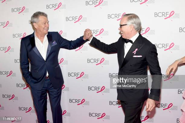 David Foster and Tommy Hilfiger attend the Hot Pink Party hosted by the Breast Cancer Research Foundation at Park Avenue Armory on May 15 2019 in New...