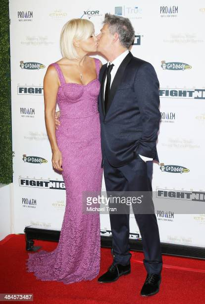 David Foster and Yolanda Foster arrive at the Celebrity Fight Night XX held at JW Marriott Desert Ridge Resort Spa on April 12 2014 in Phoenix Arizona