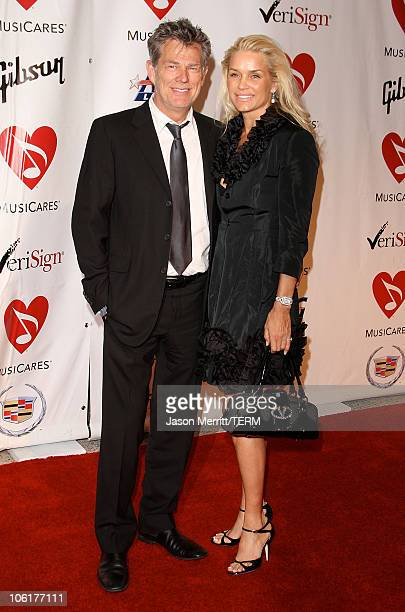 David Foster arrive at the 2008 MusiCares Person of the Year Honors Aretha Franklin at the Los Angeles Convention Center on February 8 2008