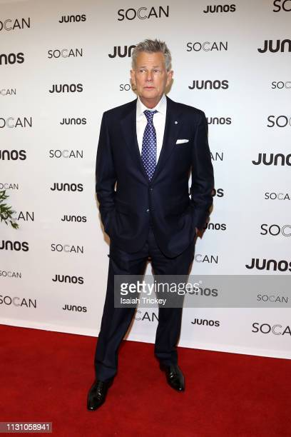 David Foster arrives on the red carpet for the 2019 Juno Gala Dinner and Awards at the London Convention Centre on March 16, 2019 in London, Canada.