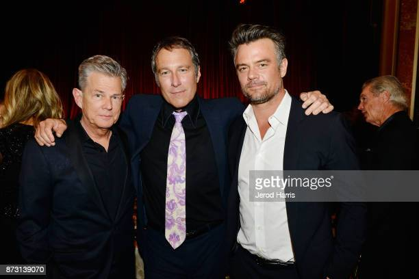 David Foster John Corbett and Josh Duhamel arrive at 'Evening With WildAid' at the Beverly Wilshire Four Seasons Hotel on November 11 2017 in Beverly...