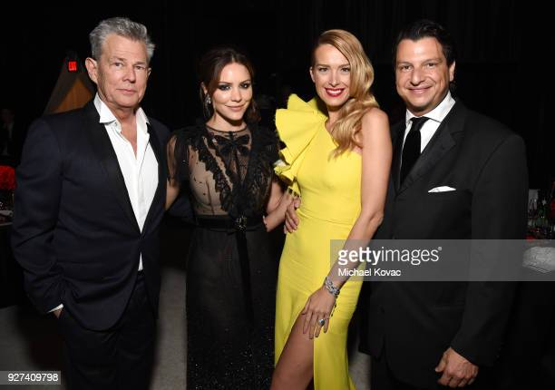 David Foster Katharine McPhee Petra Nemcova and guest attend the 26th annual Elton John AIDS Foundation Academy Awards Viewing Party sponsored by...