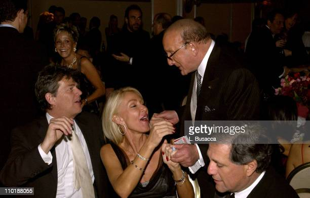 David Foster Linda Thompson and Clive Davis during 2004 Clive Davis PreGrammy Party Backstage and Audience at Beverly Hills Hotel in Beverly Hills...