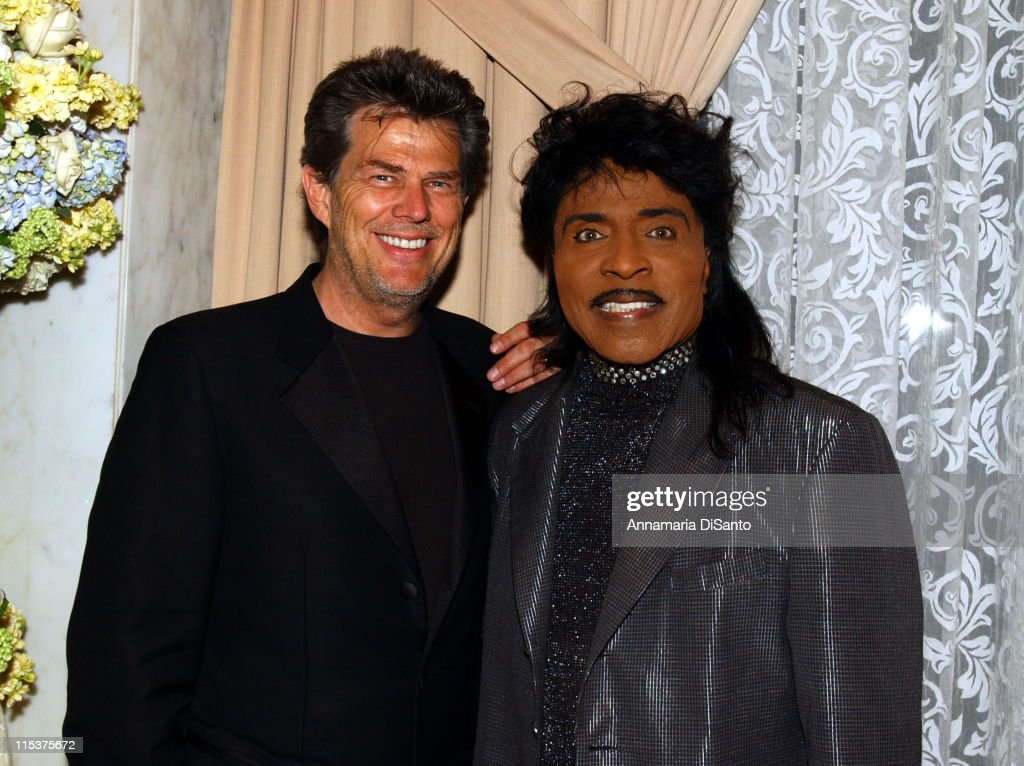 David Foster & Little Richard during 2002 BMI Pop Awards at Regent Beverly Wilshire in Beverly Hills, California, United States.