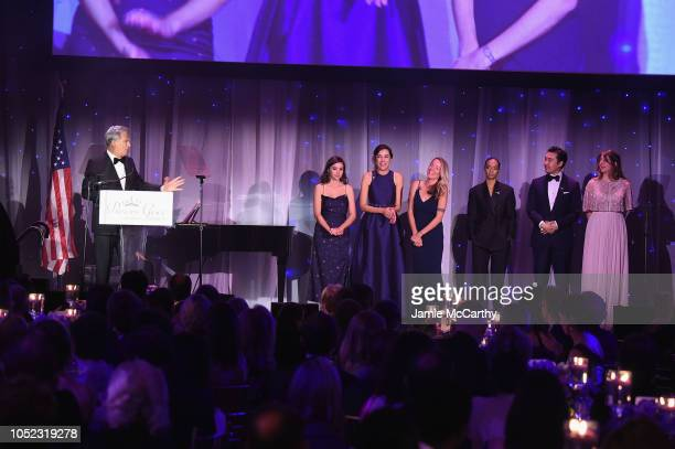 David Foster speaks on stae during the 2018 Princess Grace Awards Gala at Cipriani 25 Broadway on October 16 2018 in New York City