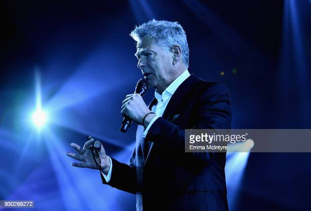 David Foster speaks onstage at Celebrity Fight Night XXIV on March 10 2018 in Phoenix Arizona