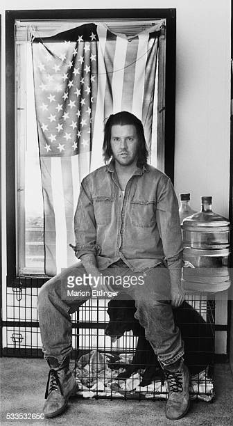 David Foster Wallace at home in Bloomington Illinois