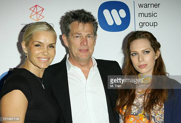 David Foster with girlfriend Yolanda and daughter Erin Foster