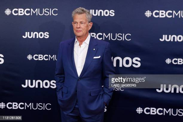 David Foster with the David Foster Foundation arrives on the red carpet for the Juno Music Awards at Budweiser Gardens in London Canada March 17 2019