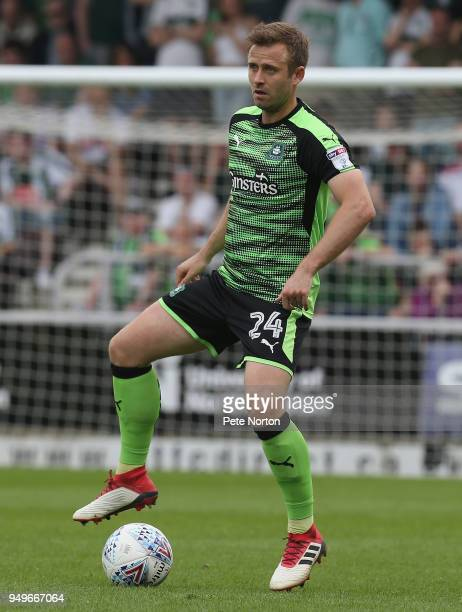 David Fox of Plymouth Argyle in action during the Sky Bet League One match between Northampton Town and Plymouth Argyle at Sixfields on April 21 2018...