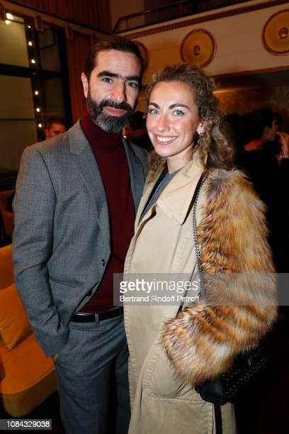 David Francois Moreau and composer Agnes Olier attend the Birkin / Gainsbourg Le Symphonique Concert by Jane Birkin at Le Comedia on December 17 2018...