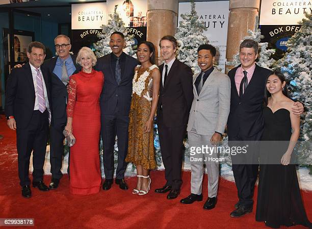David Frankel Edward Norton Naomie Harris Helen Mirren Will Smith Lily Hevesh Jacob Latimore and the cast of the film attend the European Premiere of...
