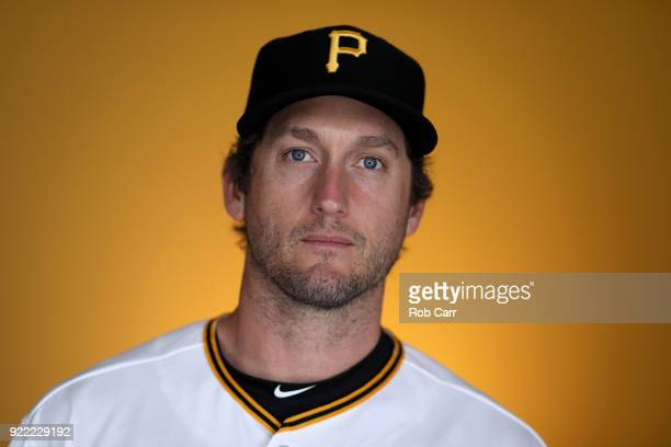 David Freese of the Pittsburgh Pirates poses for a photo during photo days at LECOM Park on February 21 2018 in Bradenton Florida