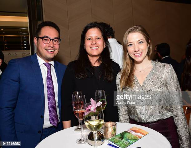 David Freylikhman Tada Fisher and Tamara Eaton attend Launch Of New Entity Withers Global Advisors at 432 Park Avenue on April 3 2018 in New York...