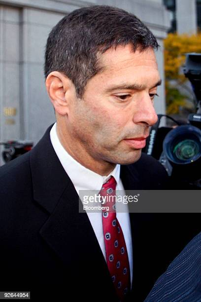 David Friehling the accountant for con artist Bernard Bernie Madoff leaves federal court after entering a guilty plea in New York US on Tuesday Nov 3...