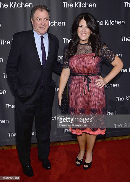 David Friend and Monica Lewinsky attend the Kitchen Spring Gala Benefit 2014 at Cipriani Wall Street on May 22 2014 in New York City