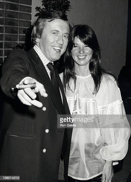 David Frost and Caroline Cushing during David Frost Sighted at La Scala Restaurant at La Scala Restaurant in Beverly Hills California United States