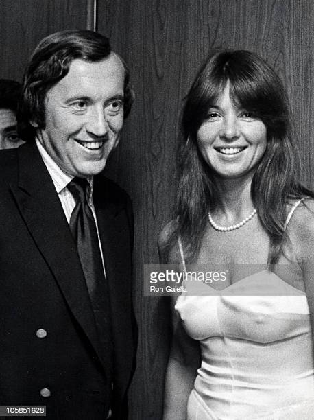 David Frost and Caroline Cushing during New York Magazine 4th of July Party at World Trade Center in New York City New York United States