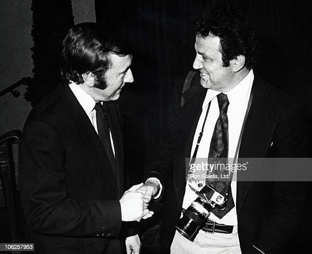 David Frost and Ron Galella during David Frost at TV Guide Luncheon at Waldorf Hotel in New York City New York United States
