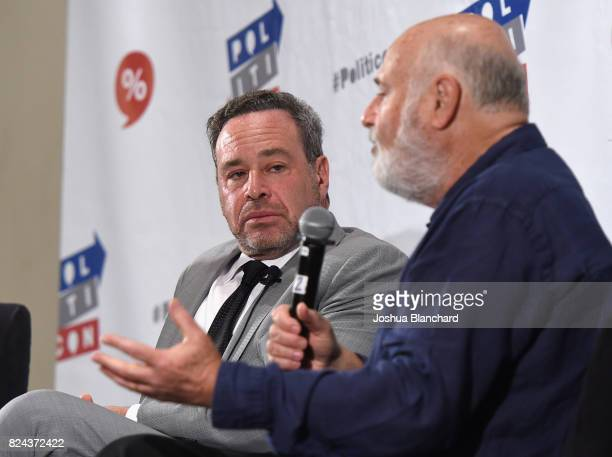 David Frum and Rob Reiner at 'Russia's Attack on our Democracy' panel during Politicon at Pasadena Convention Center on July 29 2017 in Pasadena...