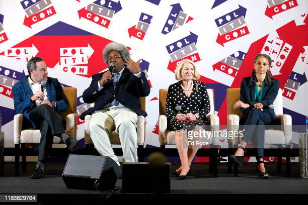 David Frum Elie Mystal Jill WineBanks and Maya Wiley speak onstage during day 2 of Politicon 2019 at Music City Center on October 27 2019 in...