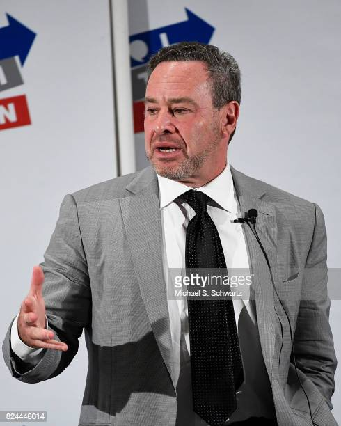 David Frum speaks during his appearance at Politicon 2017 at Pasadena Convention Center on July 29 2017 in Pasadena California