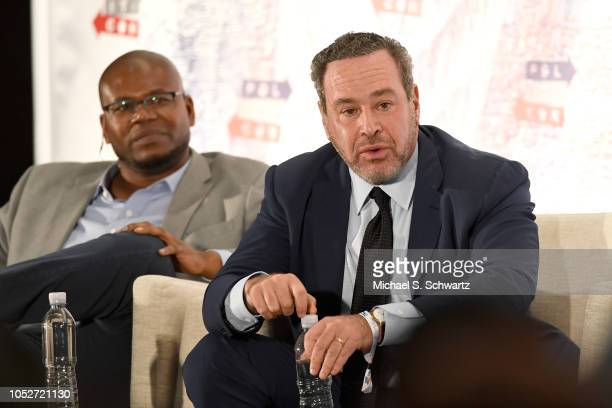David Frum speaks onstage at Politicon 2018 at Los Angeles Convention Center on October 21 2018 in Los Angeles California