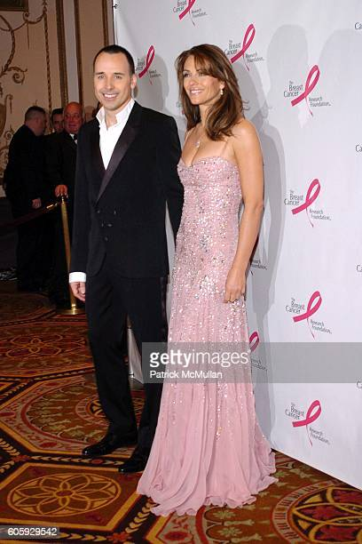 David Furnish and Elizabeth Hurley attend The Breast Cancer Research Foundation Presents 'The Very Hot Pink Party' at The Waldorf Astoria on April 10...