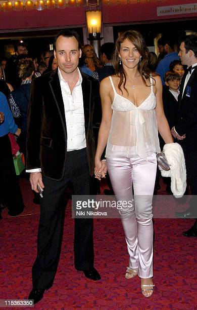David Furnish and Elizabeth Hurley during 'Mary Poppins' Gala Evening Inside Arrivals at Old Compton Street in London Great Britain