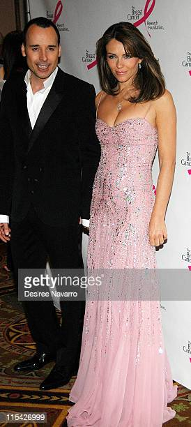 David Furnish and Elizabeth Hurley during The Breast Cancer Research Foundation Presents 'The Very Hot Pink Party' April 10 2006 at Waldorf Astoria...
