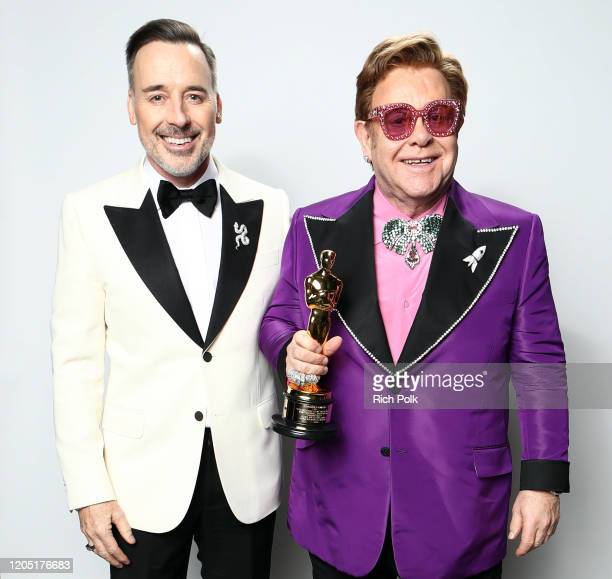 David Furnish and Elton John attend on February 09, 2020 in Los Angeles, California.