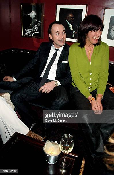 David Furnish and Janet StreetPorter attend private party at Ronnie Scott's hosted by Gary Farrow on March 15 2007 in London England