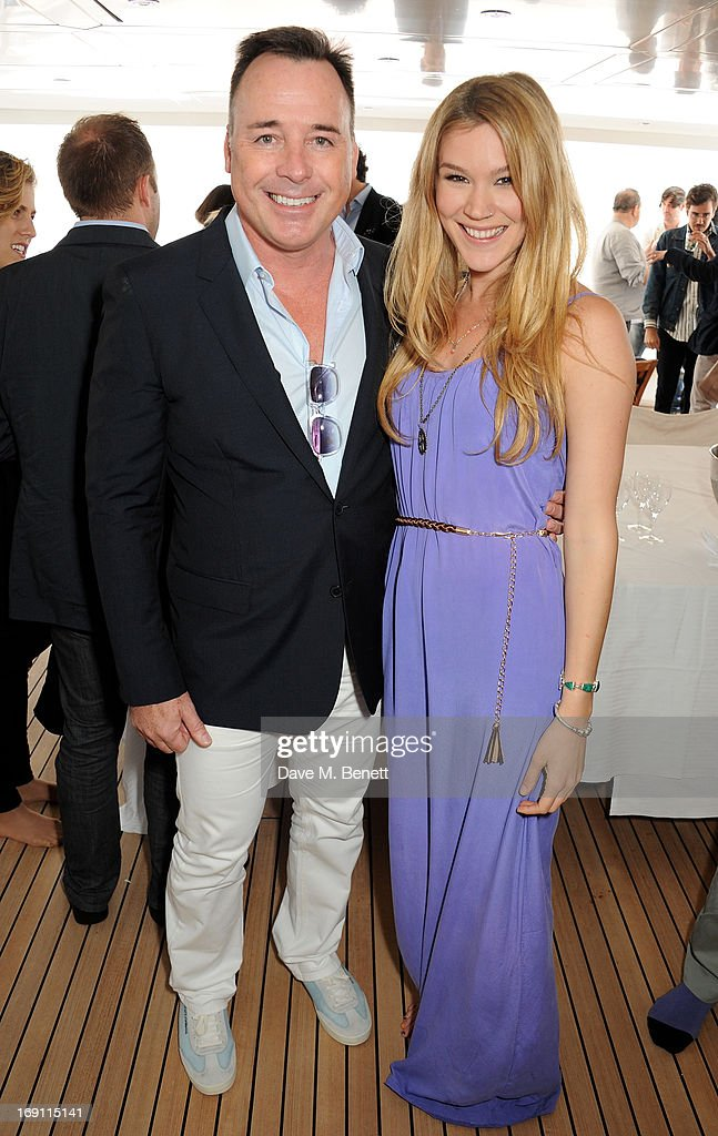 David Furnish (L) and Joss Stone attend a lunch hosted by Len Blavatnik, Harvey Weinstein and Warner Music during the 66th Cannes Film Festival on board the Odessa at Old Port on May 19, 2013 in Cannes, France.