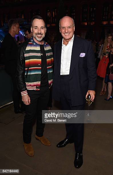 David Furnish and Nicholas Coleridge attend the 2016 VA Summer Party In Partnership with Harrods at The VA on June 22 2016 in London England