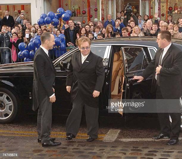 David Furnish and Sir Elton John at the Sir Elton John and David Furnish's Civil Partnership Ceremony at Guildhall in Windsor