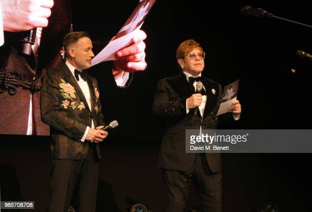 David Furnish and Sir Elton John attend the Argento Ball for the Elton John AIDS Foundation in association with BVLGARI Bob and Tamar Manoukian on...