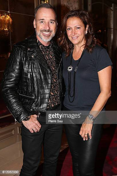 David Furnish and Tamar Manoukian attend the Siran Presentation At Hotel Plaza Athenee as part of the Paris Fashion Week Womenswear on October 2 2016...