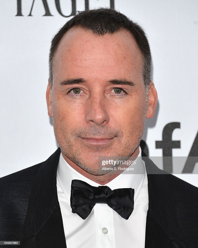David Furnish arrives at amfAR's Inspiration Gala at Milk Studios on October 11, 2012 in Hollywood, California.