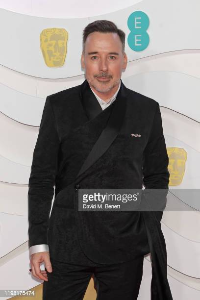 David Furnish arrives at the EE British Academy Film Awards 2020 at Royal Albert Hall on February 2 2020 in London England