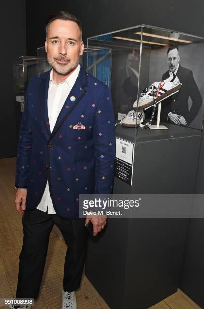 David Furnish attends adidas 'Prouder' A Fat Tony Project in aid of the Albert Kennedy Trust supporting LGBT youth at Heni Gallery Soho on July 3...