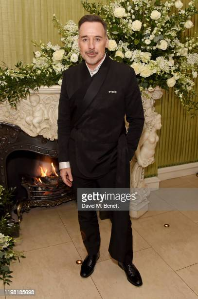 David Furnish attends the British Vogue and Tiffany Co Fashion and Film Party at Annabel's on February 2 2020 in London England