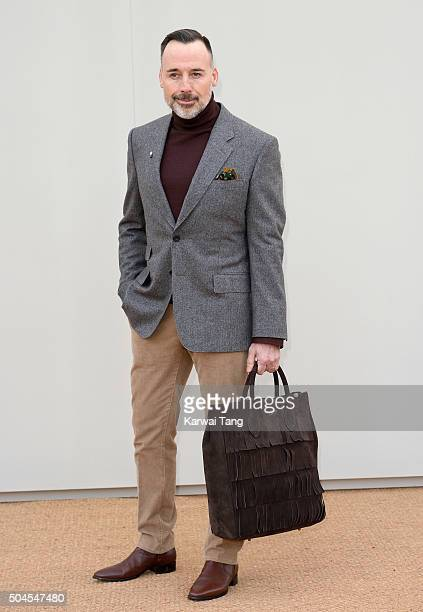 David Furnish attends the Burberry show during The London Collections Men AW16 at Kensington Gardens on January 11, 2016 in London, England.