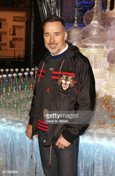 David Furnish attends the VIP launch of Hogwarts In The Snow at Warner Bros Studio Tour London The Making Of Harry Potter on November 22 2017 in...