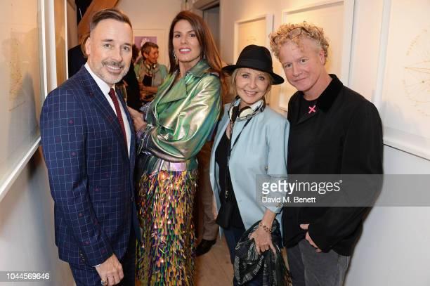 David Furnish Christina Estrada Lulu and Chris Levine attend the Chris Levine 'Inner [Deep] Space' in benefit of Elton John AIDS Foundation private...