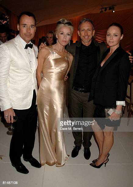 David Furnish, Daphne Guinness, Patrick Cox and Stella McCartney arrive at the Raisa Gorbachev Foundation Party, at the Stud House, Hampton Court...