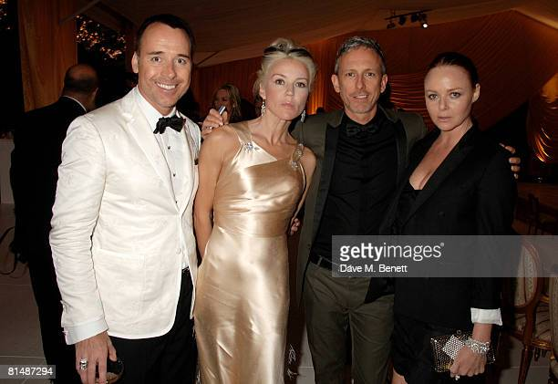David Furnish Daphne Guinness Patrick Cox and Stella McCartney arrive at the Raisa Gorbachev Foundation Party at the Stud House Hampton Court Palace...