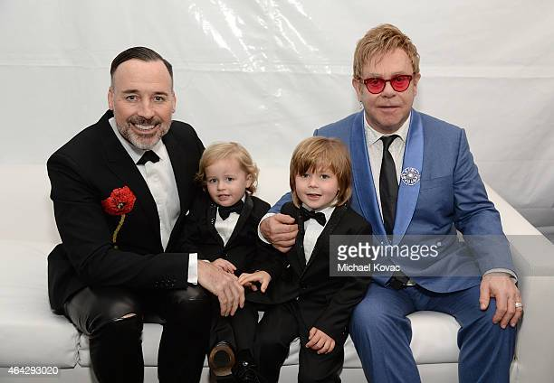 David Furnish Elijah FurnishJohn Zachary FurnishJohn and Sir Elton John attend the 23rd Annual Elton John AIDS Foundation Academy Awards Viewing...