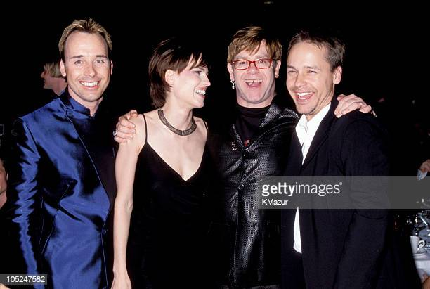 David Furnish Hilary Swank Elton John and Chad Lowe