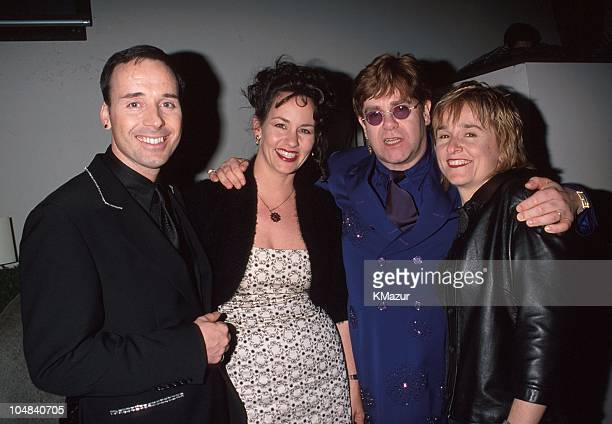 David Furnish Julie Cypher Elon John and Melissa Etheridge