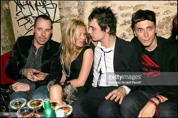 David Furnish, Kate Moss, Pete Doherty and Hedi Slimane at Christian Dior Men's Fashion Show - Spring/Summer 2006 And Stylist Hedi Sliman's Birthday...